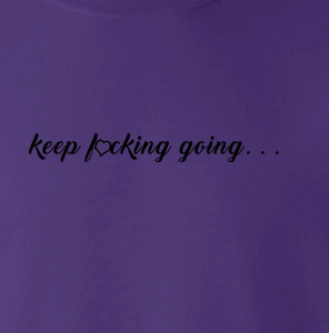 "Inspirational ""keep Going""  Sweatshirt For Women + Free Matching Bracelet Gift for Her"