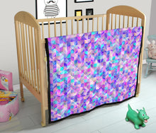 Load image into Gallery viewer, Violet & Pink Dream Geometric Premium Quilt