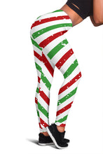 Load image into Gallery viewer, Christmas Candy Red Green White Leggings