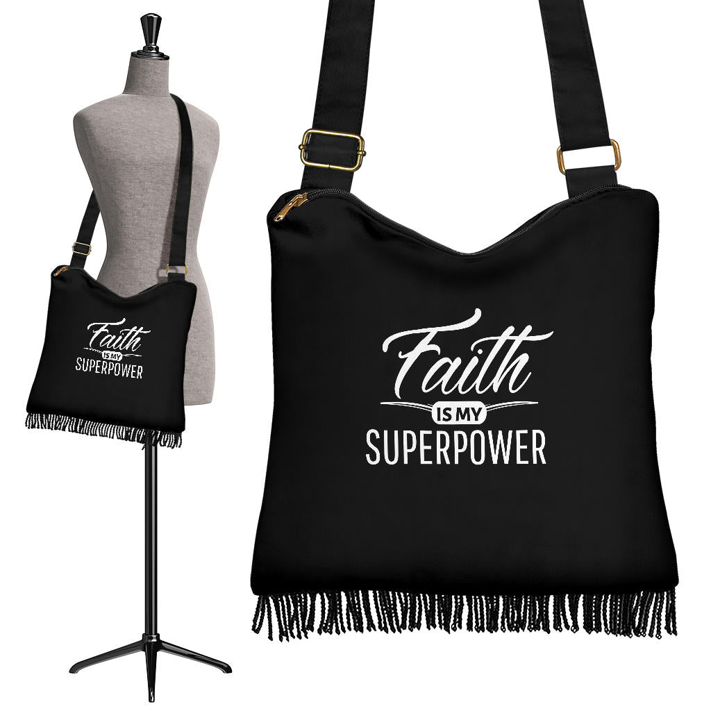 Inspirational Faith Crossbody Boho Handbag
