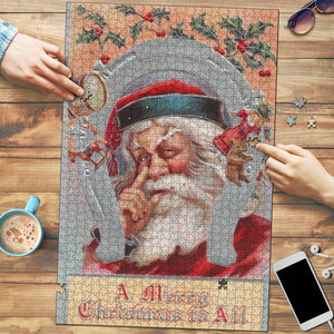 Merry Christmas To All Vintage Christmas Jigsaw Puzzle