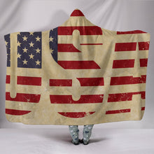 Load image into Gallery viewer, USA Hooded Blanket