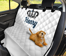Load image into Gallery viewer, Personalized White King Dog Seat