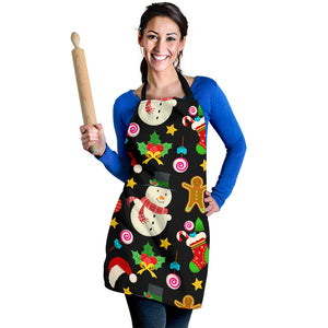 Christmas Lovely Good Vibes Only Women's Apron