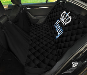 Personalized Black King Dog Seat