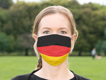 Load image into Gallery viewer, Custom Patriotic German  Flag Mask, Flag, Reusable, Washable, Mouth Cover, For Men, For Women, For Children, Facemask, Made In The USA