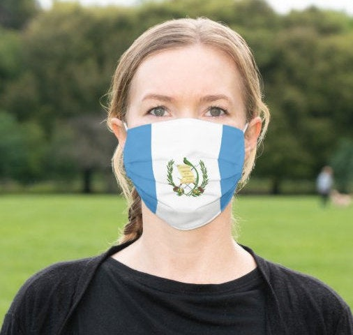 Custom Patriotic Guatemala Flag Mask, Flag, Reusable, Washable, Mouth Cover, For Men, For Women, For Children, Facemask, Guatemala