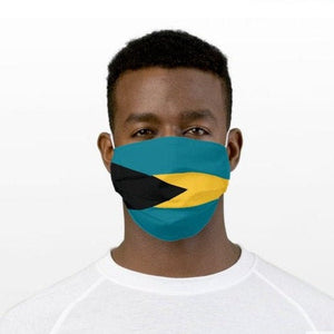 Custom Patriotic the Bahamas Flag Mask, Flag, Reusable, Washable, Mouth Cover, For Men, For Women, For Children, Facemask, The Bahamas Pride