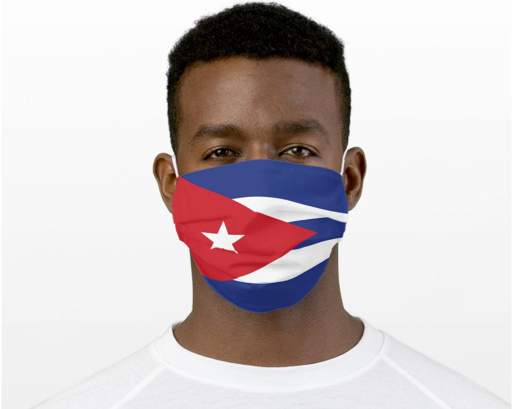 Cuban Mask, Cuban Flag Mask, Custom Patriotic Cuban Flag Mask, Flag, Reusable, Washable, Mouth Cover, For Men, For Women, Children, Facemask, Cuba