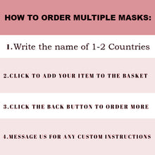 Load image into Gallery viewer, Cuban Mask, Cuban Flag Mask, Custom Patriotic Cuban Flag Mask, Flag, Reusable, Washable, Mouth Cover, For Men, For Women, Children, Facemask, Cuba