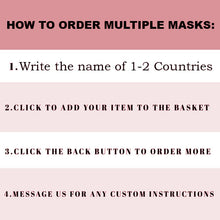 Load image into Gallery viewer, Custom Patriotic Spain Flag Mask, Flag, Reusable, Washable, Mouth Cover, For Men, For Women, For Children, Facemask, Spain mask