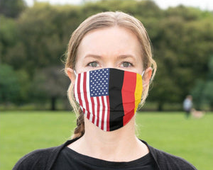 Custom Patriotic German  Flag Mask, Flag, Reusable, Washable, Mouth Cover, For Men, For Women, For Children, Facemask, Made In The USA