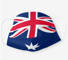 Load image into Gallery viewer, Custom Patriotic Australia Flag Mask, Flag, Reusable, Washable, Mouth Cover, For Men, For Women, For Children, Facemask, Australia Pride