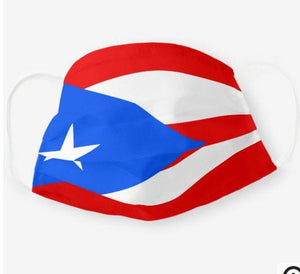 Custom Patriotic Puerto Rico Flag Mask, Flag, Reusable, Washable, Mouth Cover, For Men, For Women, For Children, Facemask, Puerto Rico mask