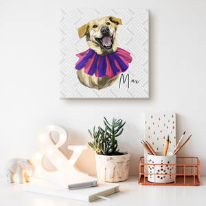 Personalized Canvas Gallery Wrap - Square