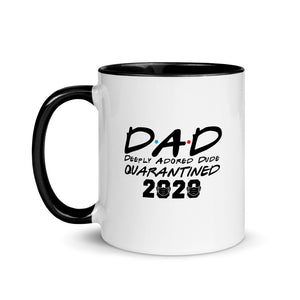 DAD Deeply Adored Dude Mug with Color Inside