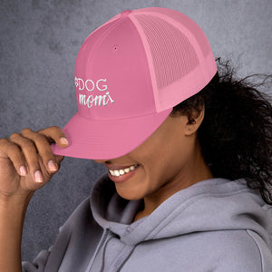 Dog Mom paw And Bone Trucker Cap