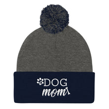 Load image into Gallery viewer, Dog Mom Paw And Bone Pom Pom Knit Cap