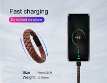 Load image into Gallery viewer, NEW: Portable Leather Charging Bracelet