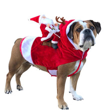 Load image into Gallery viewer, Dog Christmas Clothes Santa Sleigh Costume Sweater Pajamas + Free Womens Paw Necklace