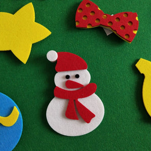 Kids Diy Felt Christmas Tree Xmas Wall Decor - Kid Safe