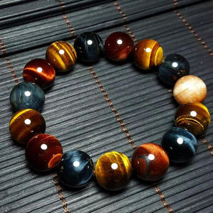 Multi-Color Natural Tiger Eye Bracelet