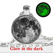 Load image into Gallery viewer, Handmade Glowing Full Moon Orb Necklace