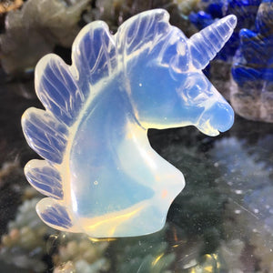 Natural Opal Quartz Crystal Unicorn