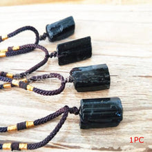 Load image into Gallery viewer, RARE: Black Tourmaline Pendant Necklace Offer (Raw Stone) + FREE Video Empowerment Series