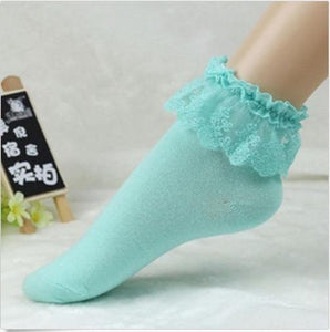 2019 Fashionable Lovely Cute Fashion Women Vintage Lace Ruffle Frilly Ankle Socks Lady Princess Girl Favorite 5 Color Available