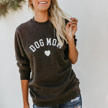 Load image into Gallery viewer, FLASH SALE: Dog Mom Heart Sweatshirt Crewneck + Free Paw Necklace - Comfy Woman's Sweater - Clothing Gift for Her, fur mama