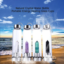 Load image into Gallery viewer, Natural Healing Crystal Water Bottle
