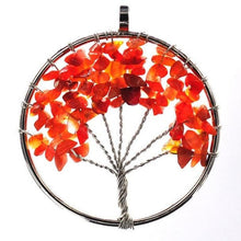 Load image into Gallery viewer, 7 Chakra Quartz Natural Stone Tree of Life Necklace