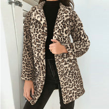 Load image into Gallery viewer, Women's Sexy Faux Fur Leopard Jacket For Winter + Free Smartphone Gloves
