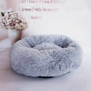 Warm Fleece Comfy Pet Lounger Cushion + Free Paw Necklace