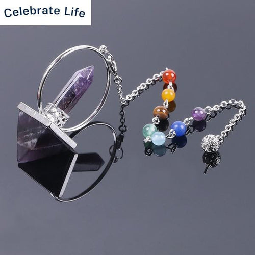 7 Chakras Natural Stone Healing And Intentions Pendulum