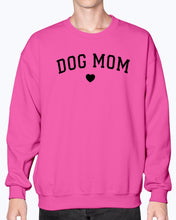 Load image into Gallery viewer, F Dog Mom Heart Gildan Sweatshirt - Crew
