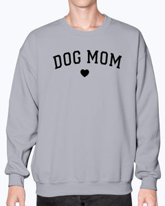 F Dog Mom Heart Gildan Sweatshirt - Crew