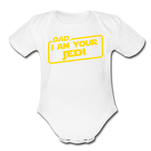 Load image into Gallery viewer, Dad Jedi Yellow - white