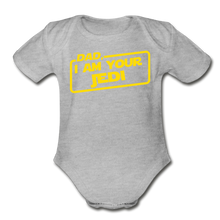 Load image into Gallery viewer, Dad Jedi Yellow - heather gray