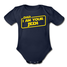 Load image into Gallery viewer, Dad Jedi Yellow - dark navy