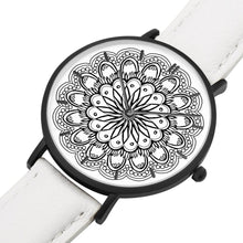 Load image into Gallery viewer, Monochromatic Genuine Leather Mandala Watch