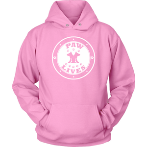 "Men Women & Youth ""Paw Lives"" Dog Rescue Awareness Hoodie"