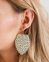 Mint Leopard Crest Earrings
