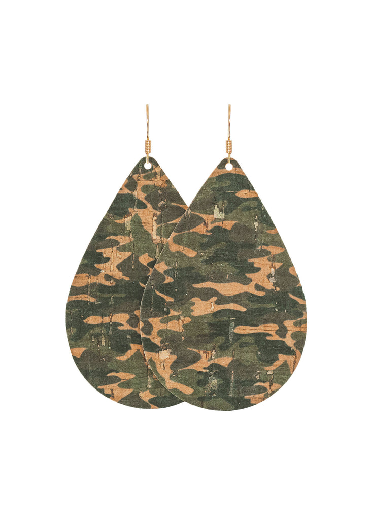 Camo Teardrop Earrings