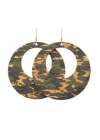 Camo Loop Earrings