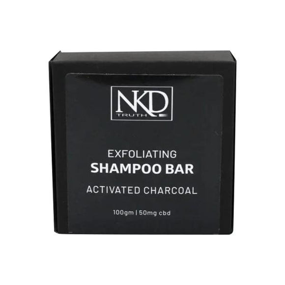 NKD 50mg CBD Activated Charcoal Shampoo Bar 100g