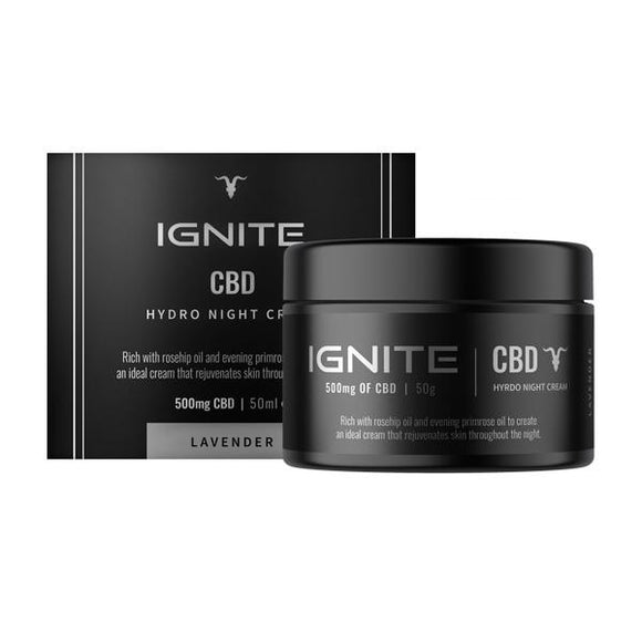 Ignite CBD 500mg CBD Hydro Night Cream 50ml