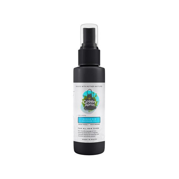 Green Apron 500mg Muscle Rub Massage Oil 250ml