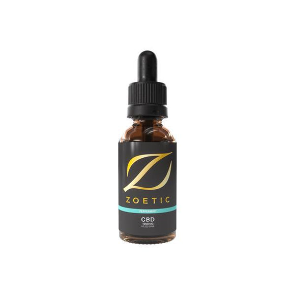 Zoetic 1000mg CBD Oil 30ml - Refreshing Peppermint